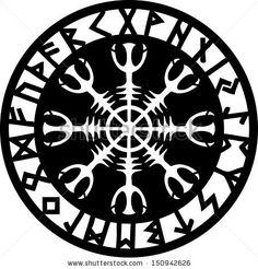Helm of awe, Aegishjalmur, Runic Amulet                                                                                                                                                                                 Plus