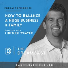 The 10th Dreamcast podcast with Linford N Bernice Weaver! Share and enjoy  Do you want to better merge your business and family? 77% of leaders don't have a good relationship with their spouse. Don't let this be the case for you. Our guest today owns several massive organizations all while keeping his family # 1. He gives his tips and tricks on staying healthy while building it big.  To many chase money without building memories. To many find money but have no meaning..........