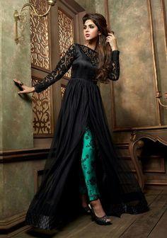 0a52911358a1 Marvelous Black Georgette Fancy Anarkali Suit Designer Suits For Wedding,  New Designer Dresses, Designer
