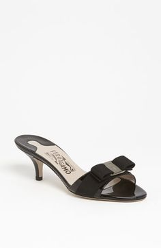 Salvatore Ferragamo 'Glory' Bow Trim Sandal available at #Nordstrom