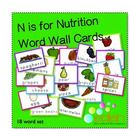 Nutrition/Food Word Wall Cards...These are great for my preschool class during my Nutrition Theme.