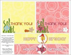 free printables under the sea birthday bag toppers and water