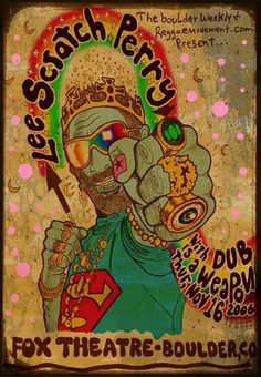 Lee Scratch Perry Ska Skank Dub poster by darrengrealish on Etsy, $30.00