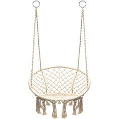 Sonyabecca Hammock Chair Macrame Swing 265 Pound Capacity Handmade Knitted Hanging Swing Chair for Indoor/Outdoor Home Patio Deck Yard Garden Reading Leisure Lounging Hanging Hammock Chair, Hanging Rope, Swinging Chair, Hanging Chairs, Hammock Stand, Meditation Chair, Swing Design, Bedroom Chair, Bedroom Decor
