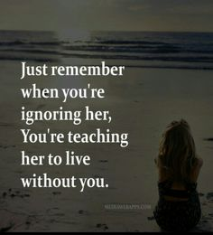 Pay attention to her!