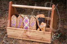 Custom Grooming Wood Grooming Box With brush set of 5 (This listing is for a simple design.) Included in the tack box kit ~Custom Wood