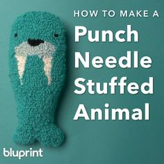 How to Make a Punch Needle Stuffed AnimalThis is the cutest stuffed animal walrus we ever did sea! And you can make him yourself since it's a beginner friendly punch needle project! Pro tip: Wool or wool blend yarns work best for punch needle. Embroidery Stitches, Embroidery Patterns, Hand Embroidery, Print Patterns, Punch Needle Patterns, Cute Stuffed Animals, Punch Art, Crafty Craft, Rug Hooking