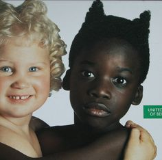 1991 Benetton Advertisement Angel & Devil by OutofCopenhagen. This ad created an uproar at the time as it portrayed the black child as the devil and the white child as the angelic cherub