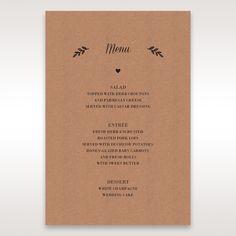 Brown Rustic - Menu Cards - Wedding Stationery - 59