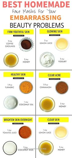 Beauty hacks beauty tips Best Homemade Face masks Clear Acne popular pin DIY tips beauty infographic glowing skin Best Homemade Face Mask, Homemade Masks, Best Diy Face Mask, At Home Face Mask, Homemade Facials, Homemade Skin Care, Mask For Face, Homemade Beauty Tips, Home Made Hair Mask