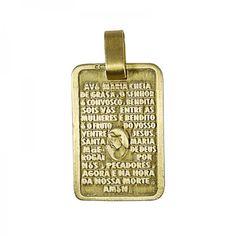 Berloque Oração Avé Maria Ref.: Q.12.2717D_R Categorias: Marcas: Eugénio Campos Disponível Prata 925 / Banho de Ouro Preço: 62.70 €  c/ IVA
