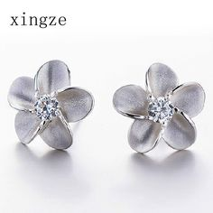 Find More Stud Earrings Information about High quality silver plated jewelry plum shape zircon silver plated stud earrings for women fine jewelry wholesale,High Quality earrings channel,China earring jewelry case Suppliers, Cheap earring shop from Xingze Jewelry store on Aliexpress.com
