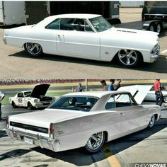 """The Muscle Car History Back in the and the American car manufacturers diversified their automobile lines with high performance vehicles which came to be known as """"Muscle Cars. Rat Rods, 67 Nova, Chevy Muscle Cars, Gm Car, Old School Cars, Chevy Nova, Sweet Cars, Drag Cars, American Muscle Cars"""