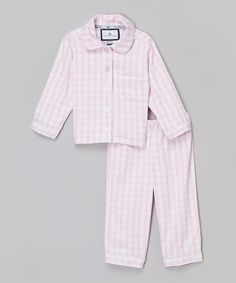 Look what I found on #zulily! Pink Gingham Pajama Set - Infant, Toddler & Girls #zulilyfinds
