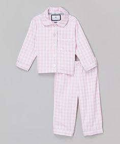 Look at this #zulilyfind! Pink Gingham Pajama Set - Infant, Toddler & Girls #zulilyfinds