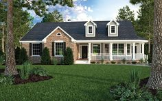 Country House Plan with 1965 Square Feet and 3 Bedrooms from Dream Home Source | House Plan Code DHSW32620