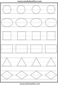Abc Worksheets For Preschool To Free. Abc Worksheets For Preschool - P&K Math Worksheet For Kids - Math Worksheet for Kids Shape Tracing Worksheets, Shape Worksheets For Preschool, Tracing Shapes, Free Preschool, Free Printable Worksheets, Preschool Lessons, Kindergarten Worksheets, Preschool Learning, Preschool Activities