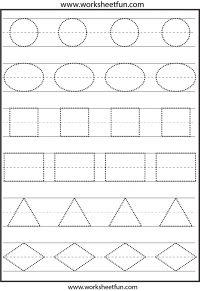 Shapes Tracing Worksheets – FREE PRINTABLES