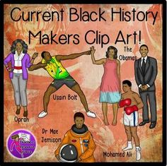 Current Famous Black History Makers clip art! (Color & Black line). Get your hands on some Martin Luther King clip art set that is so realistic! You will love using these quality graphics on your resources and your students will love them too!