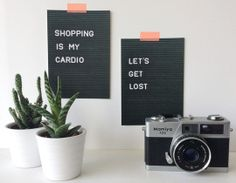 Postcard set letterboard style Lets Get Lost, Lightbox, My Room, Letter Board, Fun, Signs, Interior Design, Green, Quotes