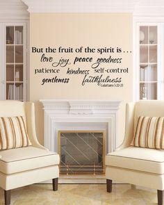 Galatians 522 Fruit of the Spirit  love joy peace by WildEyesSigns, $40.00