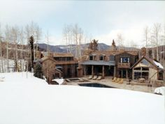 Ski House, Snowmass, CO. Beautiful house in the snow. ROA.