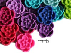 6pc you choose mini sakura 17mm resin flower cabochons, 18 colors, perfect for making hairpins and rings