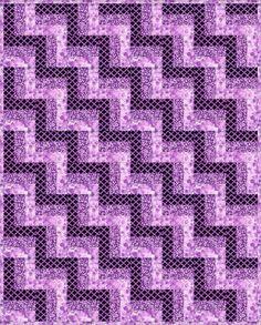 Lavender Orchid Pre-Cut Quilt Blocks Kit 36x45 from Quilt Kit Shop