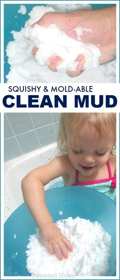 A new & easy way to make clean mud for kids; all the fun of mud with none of the mess!