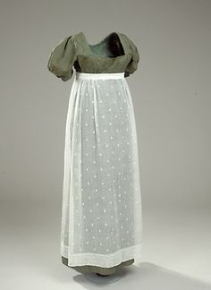 Danish day dress from the early 1800s. F4453