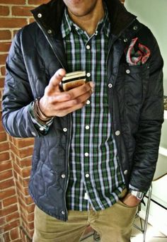 men's casual quilted jacket
