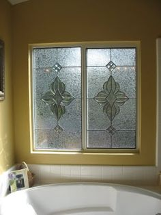 contacted me requesting replacement of her clear bathroom window with a privacy glass beveled window the windows are sliding and sh