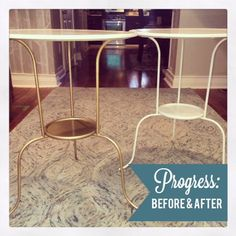 US + HOME: Simple Side Tables (Ikea Hack)