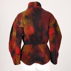 Thierry Mugler Hand-Dyed Wool Avant Garde Jacket 4
