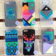 iPhone covers hama mini beads by Black Chameleon