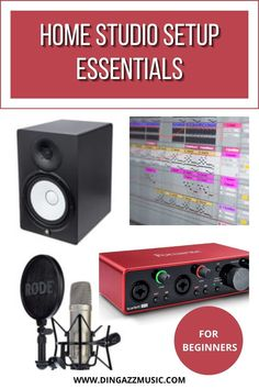 Always wanted to make music? Well now it is possible to make quality music from your own home studio.   Get the home studio set up essentials and be on your way to making music. #homestudio #homestudioequipment #makingmusic Music Recording Equipment, Home Recording Studio Setup, Home Studio Setup, Home Studio Music, Home Studio Equipment, Digital Audio Workstation, Recorder Music, Sound Proofing, Career