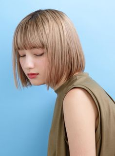 Permed Hairstyles, Cute Hairstyles, Hair Inspo, Hair Inspiration, Bob Hair Color, Shot Hair Styles, Hair Arrange, Hair Designs, Hair Hacks