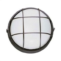 $45  LBL Lighting Large Round Outdoor Bulk Head Wall or Ceiling Mounted Lantern with Guard