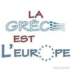 "'""La Grece est l' Europe"" slogan' T-Shirt by Art By M Tshirt Colors, Slogan, Wardrobe Staples, Female Models, Classic T Shirts, Europe, Printed, Fabric, How To Wear"