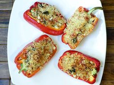 Spicy Baked Peppers with Quinoa and Corn Recipe from Betty Crocker