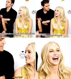 tvd - paul wesley and candice accola