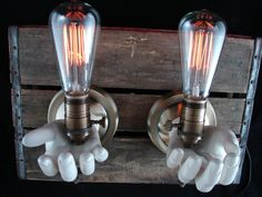 upcycled mannequin hand lamps    We sell mannequin hands at Mannequin Madness.com