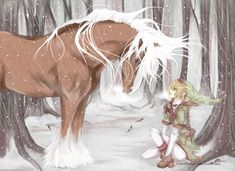 Zelda Ocarina of Time Link and Epona 君と命を共にしよう。。。 by Mich