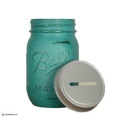 Ball Mason Jar Spaarpot | Kleur Jeanet | CADEAU VOOR HAAR | Ditwilikhebben.nl