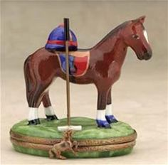 Limoges French hand painted Polo Horse Box The Cottage Shop