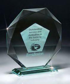 Traditional Jade Glass Octagon Award