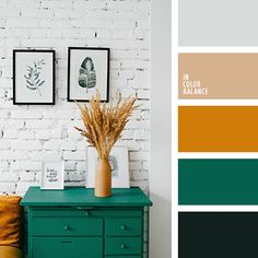 25 Color Palettes Inspired by Pantone Spring/Summer 2019 Color Trends Interior design color inspirat Interior Design Color Schemes, Green Color Schemes, Green Colour Palette, House Color Schemes, House Colors, Home Interior Design, Color Palettes, Colour Combinations Interior, Apartment Color Schemes