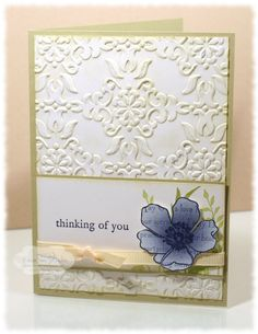 Renee does beautiful watercoloring.  This would be a gorgeous sympathy card, especially with a taffeta ribbon