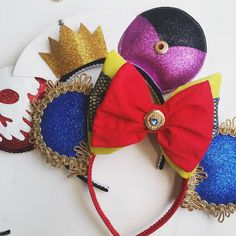 Snow White/Evil Queen Inspired Minnie Mouse Disney Ears Source Instagram…