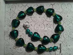 Teal Glass Necklace Email shenbettridge@gmail.com